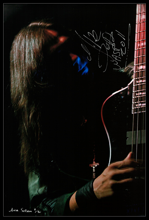 Mike Duda wasp W.A.S.P. concert live signature signed photo autograph