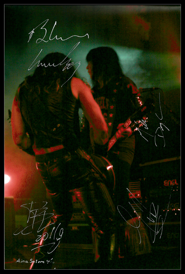 wasp W.A.S.P. concert live signature signed photo autograph